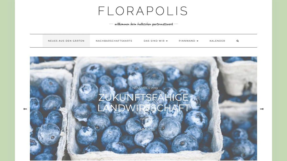 Screenshot von Florapolis.de